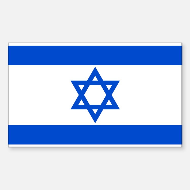 Israel State Flag Rectangle Decal