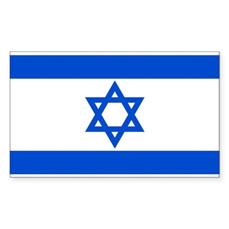 Israel State Flag Rectangle Sticker