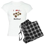 I Love Muffins Women's Light Pajamas