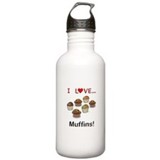 I Love Muffins Water Bottle