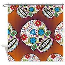 Sugar Skulls Shower Curtain
