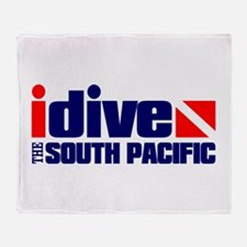 idive (South Pacific) Throw Blanket