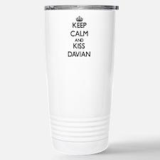 Keep Calm and Kiss Davian Travel Mug