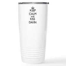 Keep Calm and Kiss Davin Travel Mug