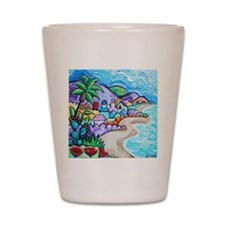 Laguna Beach Feeling By Angela Cruz Shot Glass