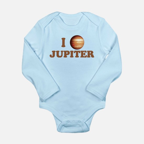 I Love Jupiter Long Sleeve Infant Bodysuit