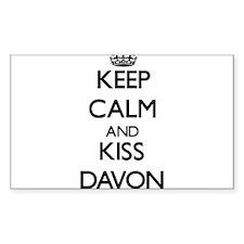 Keep Calm and Kiss Davon Decal
