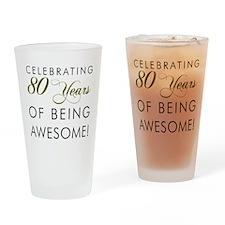 Celebrating 80 Years Drinkware Drinking Glass