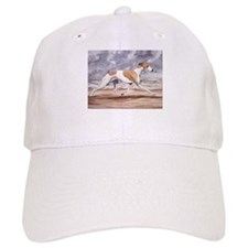 Whippet on the Beach Baseball Baseball Cap