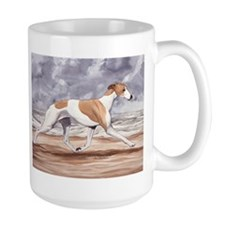 Whippet on the Beach Mugs