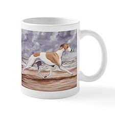 Whippet on the Beach Mugs