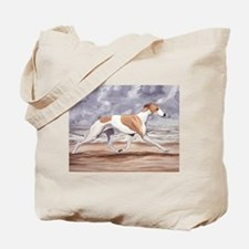 Whippet on the Beach Tote Bag