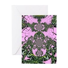 SPIDER WEB MOSAIC Greeting Card