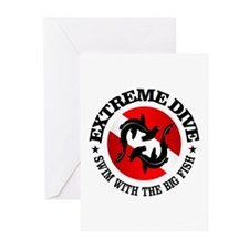 Extreme Dive (Hammerheads) Greeting Cards