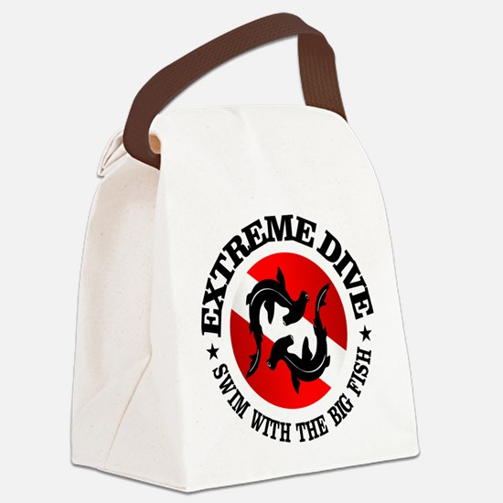 Extreme Dive (Hammerheads) Canvas Lunch Bag