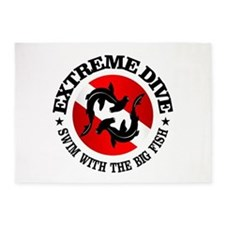 Extreme Dive (Hammerheads) 5'x7'Area Rug