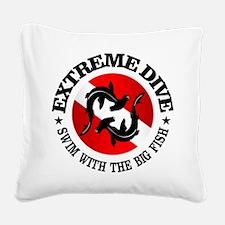 Extreme Dive (Hammerheads) Square Canvas Pillow