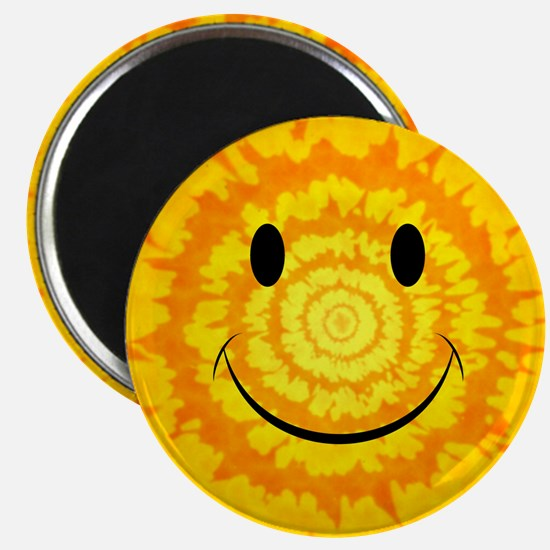 Tie Dye Smiley Face Magnets