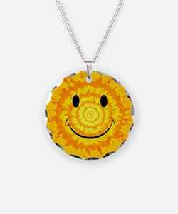 Tie Dye Smiley Face Necklace