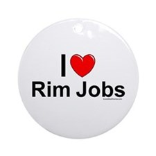 Rim Jobs Ornament (Round)