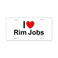 Rim Jobs Aluminum License Plate