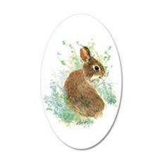 Cute Watercolor Bunny Rabbit Wall Sticker