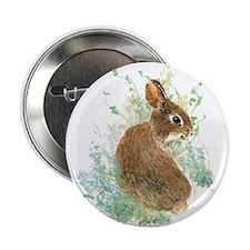 """Cute Watercolor Bunny Rabbit Pet Animal 2.25"""" Butt"""