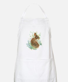 Cute Watercolor Bunny Rabbit Pet Animal Apron