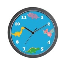 Dinosaurs-Clock-Blue Wall Clock