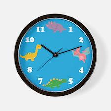 Dinosaurs-Clock-Blue Wall Clock