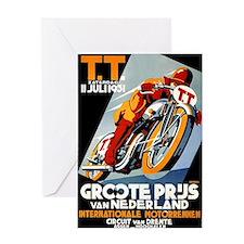 1931 Netherlands Grand Prix Racing Poster Greeting