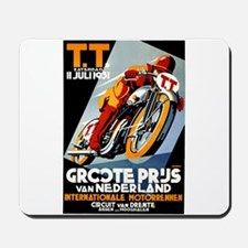 1931 Netherlands Grand Prix Racing Poster Mousepad