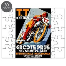 1931 Netherlands Grand Prix Racing Poster Puzzle
