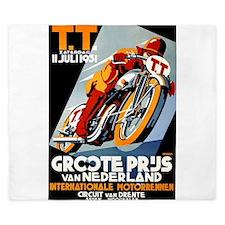 1931 Netherlands Grand Prix Racing Poster King Duv