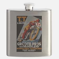 1931 Netherlands Grand Prix Racing Poster Flask