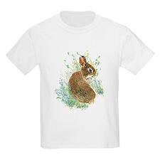 Cute Watercolor Bunny Rabbit Pet Animal T-Shirt