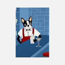 Boston Terrier Martini Bartender Magnet