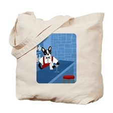Boston Terrier Martini Bartender Tote Bag