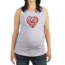 Michigan Heart Maternity Tank Top