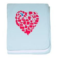 Michigan Heart baby blanket