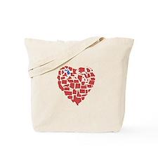 Michigan Heart Tote Bag