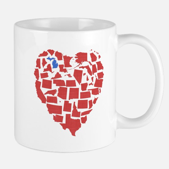 Michigan Heart Mug