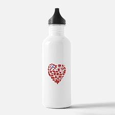Michigan Heart Water Bottle