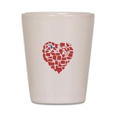Michigan Heart Shot Glass