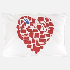Michigan Heart Pillow Case