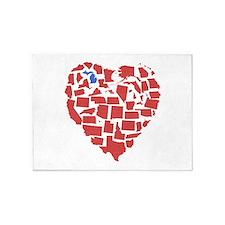 Michigan Heart 5'x7'Area Rug