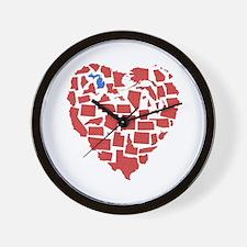 Michigan Heart Wall Clock