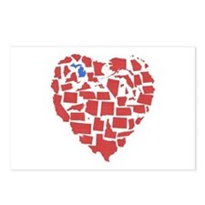 Michigan Heart Postcards (Package of 8)