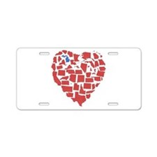 Michigan Heart Aluminum License Plate