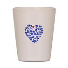 Minnesota Heart Shot Glass